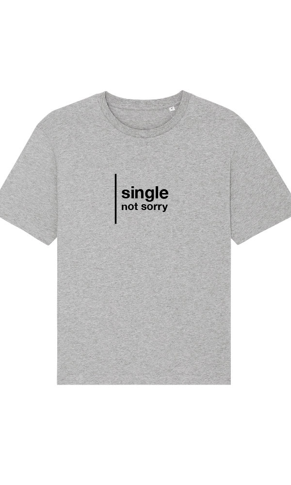Ethics T-Shirt Single not sorry heather grey front