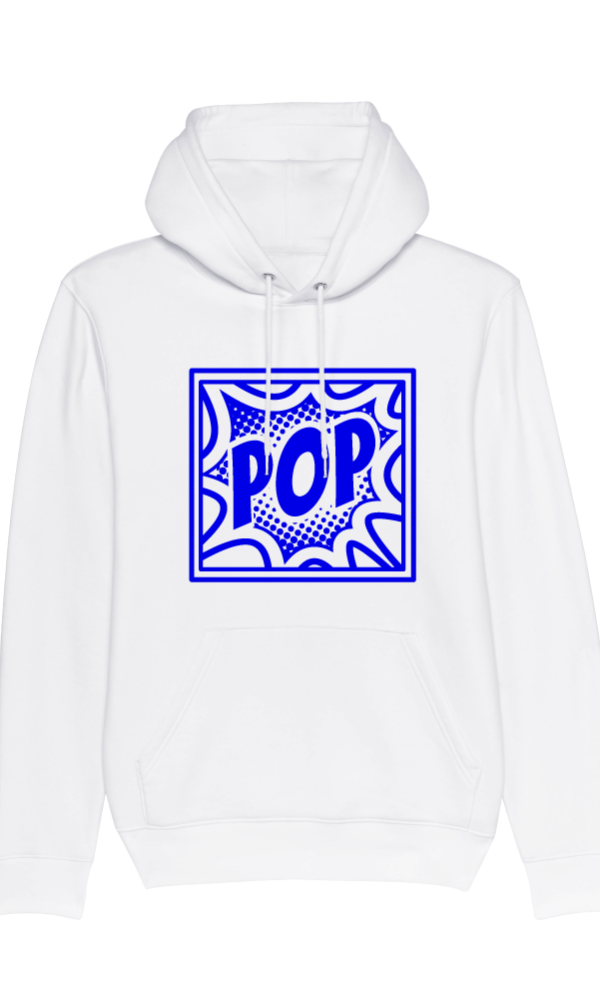 Ethics hoodie POP white front