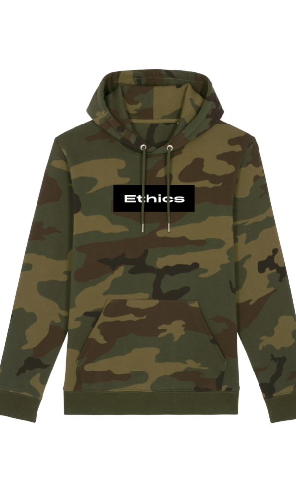 Ethics hoodie basics the greenery camo front