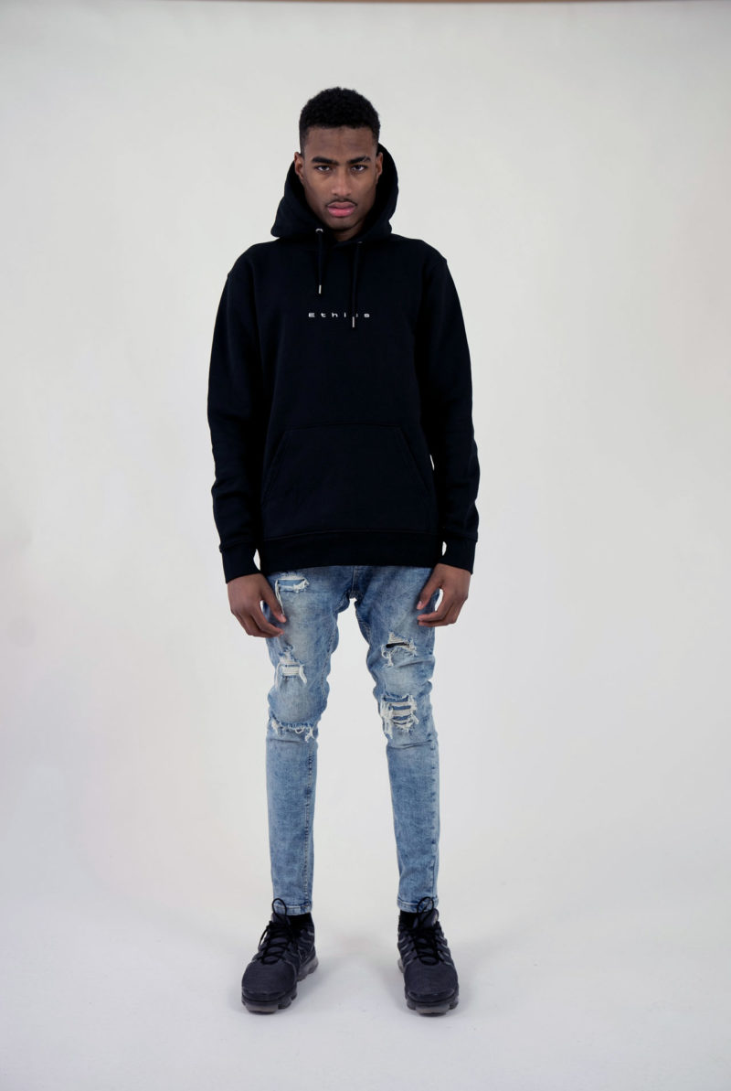 Ethics clothing Ethics hoodie single not sorry black front