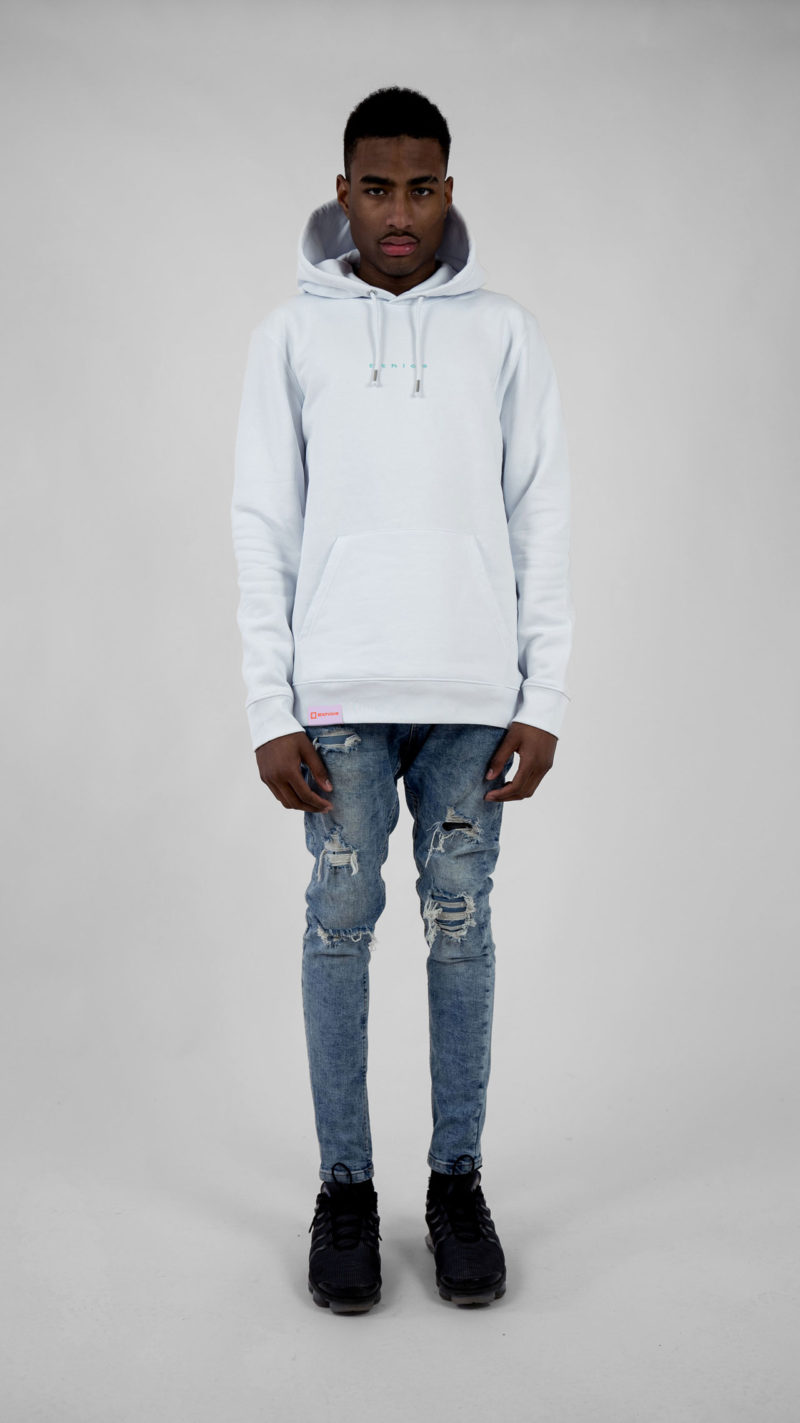 Ethics clothing Ethics hoodie white itisswell front