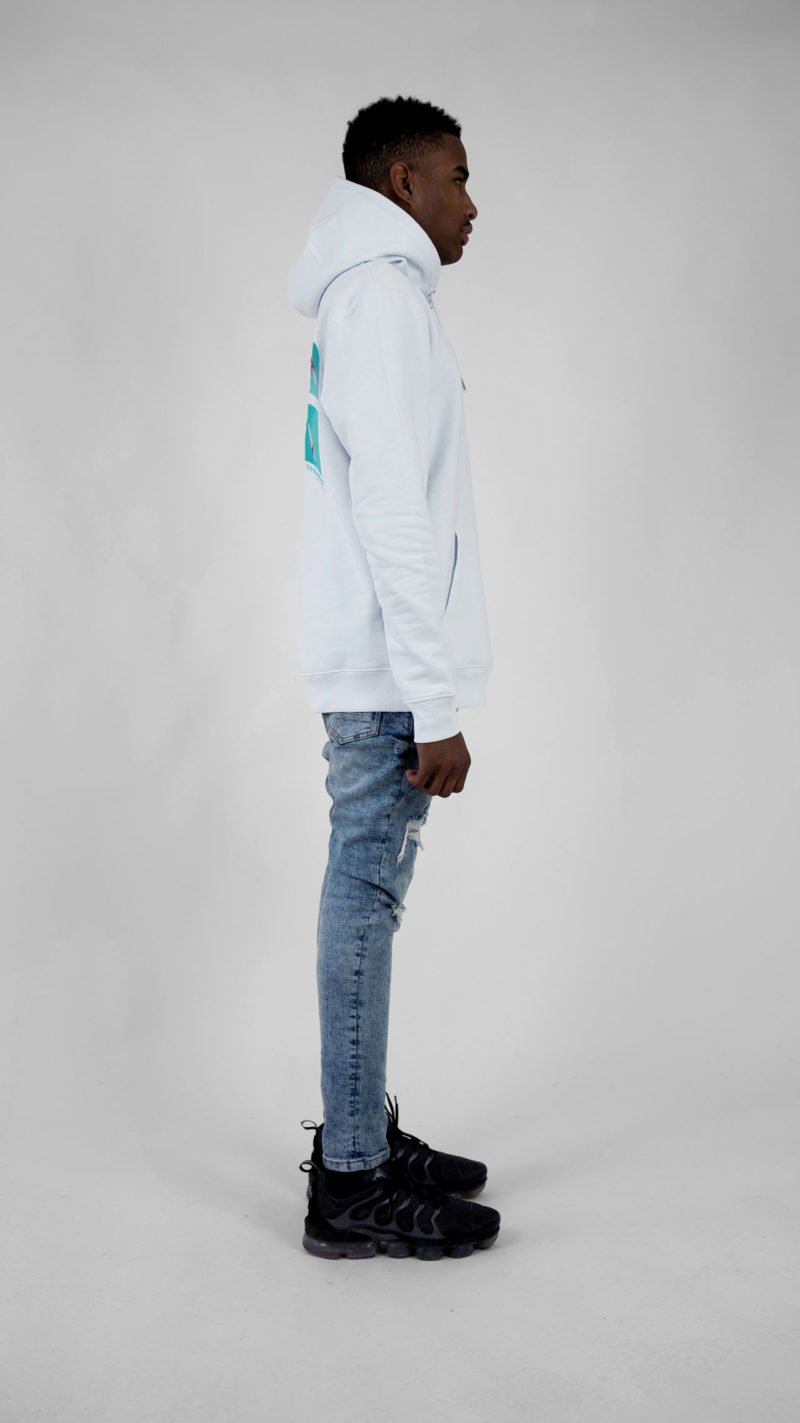 Ethics clothing Ethics hoodie white itisswell side